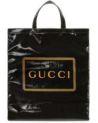 Gucci - ブラック ミディアム ロゴ トート - Lyst