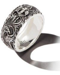 Gucci Декорированное Серебряное Кольцо - Металлик