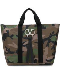 Valentino Garavani Shopper mit VRING - Grün