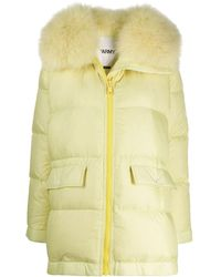 Army by Yves Salomon Quilted Puffer Coat - Yellow