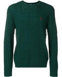Polo Ralph Lauren ケーブルニット セーター - グリーン
