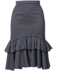 TOME | Ruffled Striped Skirt | Lyst