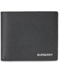 Burberry Grainy Leather Bifold Wallet - Schwarz