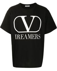 Valentino Vロゴ Dreamers Tシャツ - ブラック