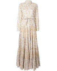 Mes Demoiselles バロックプリント ドレス - ホワイト