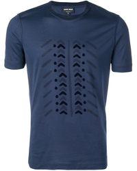Giorgio Armani T-shirt con stampa - Blu