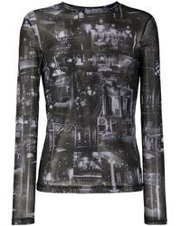 Y. Project プリント ロングtシャツ - ブラック
