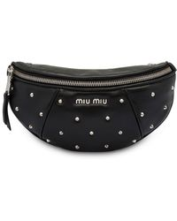 Miu Miu Studded Belt Bag - Black