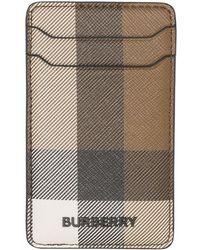 Burberry Клетчатый Чехол Для Iphone 12 Pro С Отделениями Для Карт - Коричневый