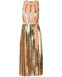Twin Set - Sequin Panelled Dress - Lyst