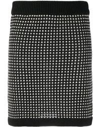Boutique Moschino ニット ミニスカート - ブラック