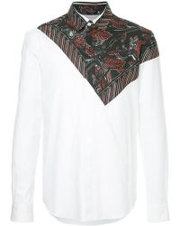 Yoshiokubo - Leaf Bandana Print Shirt - Lyst