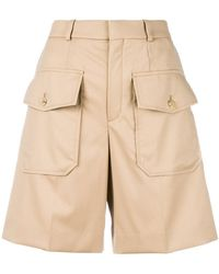 Chloé Knee Length Cargo Shorts - Brown