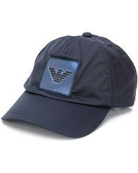 Emporio Armani Casquette à patch logo - Bleu