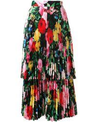 Richard Quinn Layered Floral Midi Dress - Multicolour