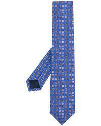 Polo Ralph Lauren Cravate en soie à fleurs - Bleu