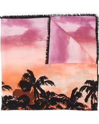 Valentino - Écharpe à palmiers imprimés - Lyst