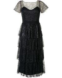 Marchesa notte ティアード ドレス - ブラック