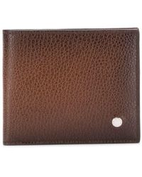 Orciani Bifold Leather Wallet - Brown
