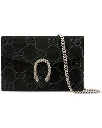 4a7607ddbcc3 Gucci - Dionysus GG Velvet Mini Chain Wallet - Lyst