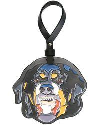 Givenchy Rottweiler Embossed Keyring - Black