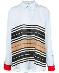 Burberry ストライプ オーバーサイズシャツ - マルチカラー