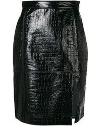 MSGM - クロコダイル スカート - Lyst