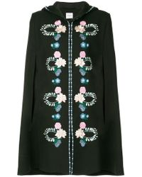 Vilshenko - Embroidered Floral Cape - Lyst