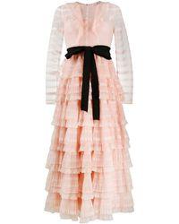 RED Valentino Gelaagde Maxi-jurk - Roze
