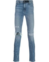RTA High rise skinny fit distressed jeans - Blu