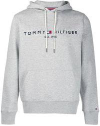 Tommy Hilfiger ロゴ パーカー - ブルー