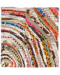 Faliero Sarti Schal mit Print - Mehrfarbig