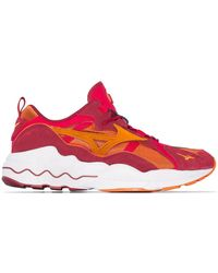 Mizuno Wave Rider 1s Low Top Trainers - Red
