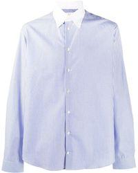 Mackintosh Bloomsbury ストライプ ボタンシャツ - ブルー