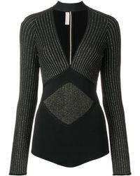 Elie Saab Thorn Bodysuit - Black