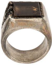 Tobias Wistisen Square Cocktail Ring - Metallic