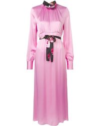 MSGM ロングスリーブ ドレス - ピンク