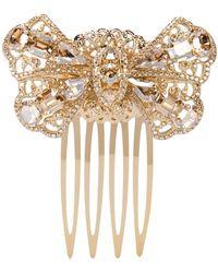 Dolce & Gabbana Verzierter Haarkamm - Mettallic