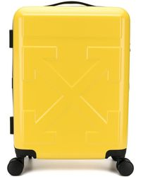 "Off-White c/o Virgil Abloh ""for Travel"" Logo Suitcase - Yellow"