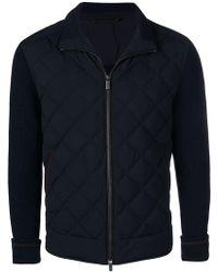 Ermenegildo Zegna - Padded Front Knit Jacket - Lyst