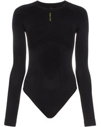 Unravel Project Logo Print Bodysuit - Black