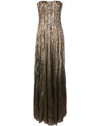 Oscar de la Renta - スパンコール イブニングドレス - Lyst