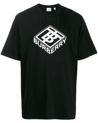 Burberry Camiseta de Hombre Baratos en Rebajas - Negro