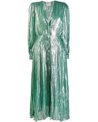 Forte Forte Wrap-around Satin Gown - Green