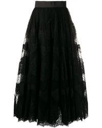 Dolce & Gabbana Пышная Кружевная Юбка - Черный