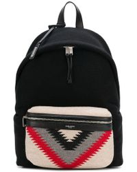Saint Laurent - Printed Backpack - Lyst