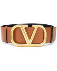 Valentino Cintura con fibbia VLOGO Garavani - Marrone