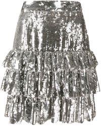 MSGM - スパンコール ミニスカート - Lyst