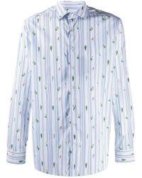 Etro - Полосатая Рубашка С Принтом Mexican - Lyst
