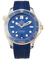 Omega Montre chronographe Seamaster Diver 300 m 42 mm non portée (2021) - Bleu